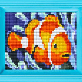 Mosaik Pixel mit Rahmen.
