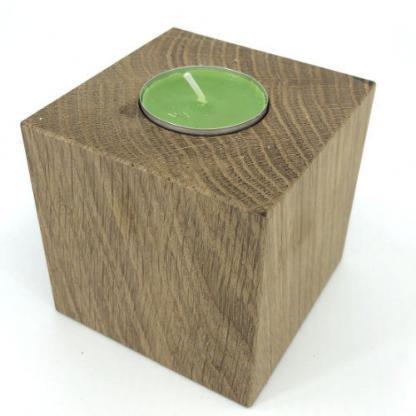 Holzwürfel Teelicht