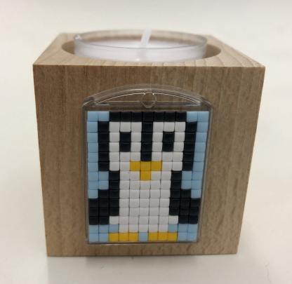 Teelichthalter für Pixel Medaillons