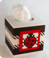 Kleenex Box mit Pixel Rahmen