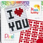 Pixel Schlüsselanhänger I love you