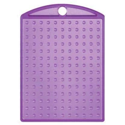 Pixel-Schlüsselanhänger-Medaillon-Violett